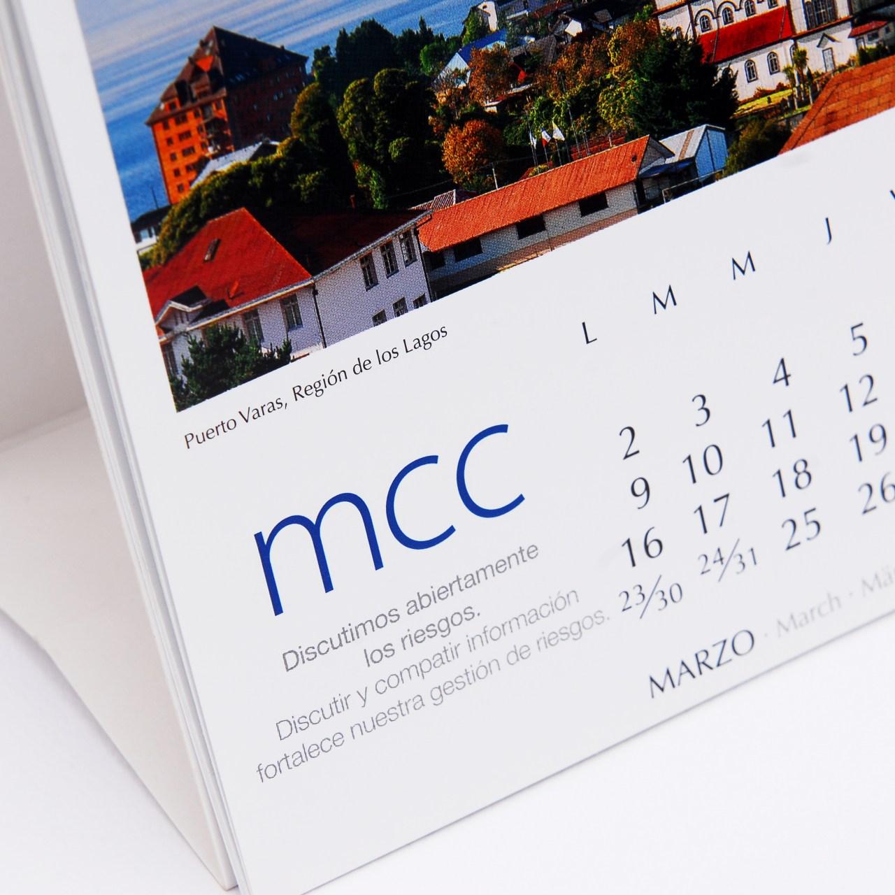 Calendario Recorriendo Chile Norberto Seebach