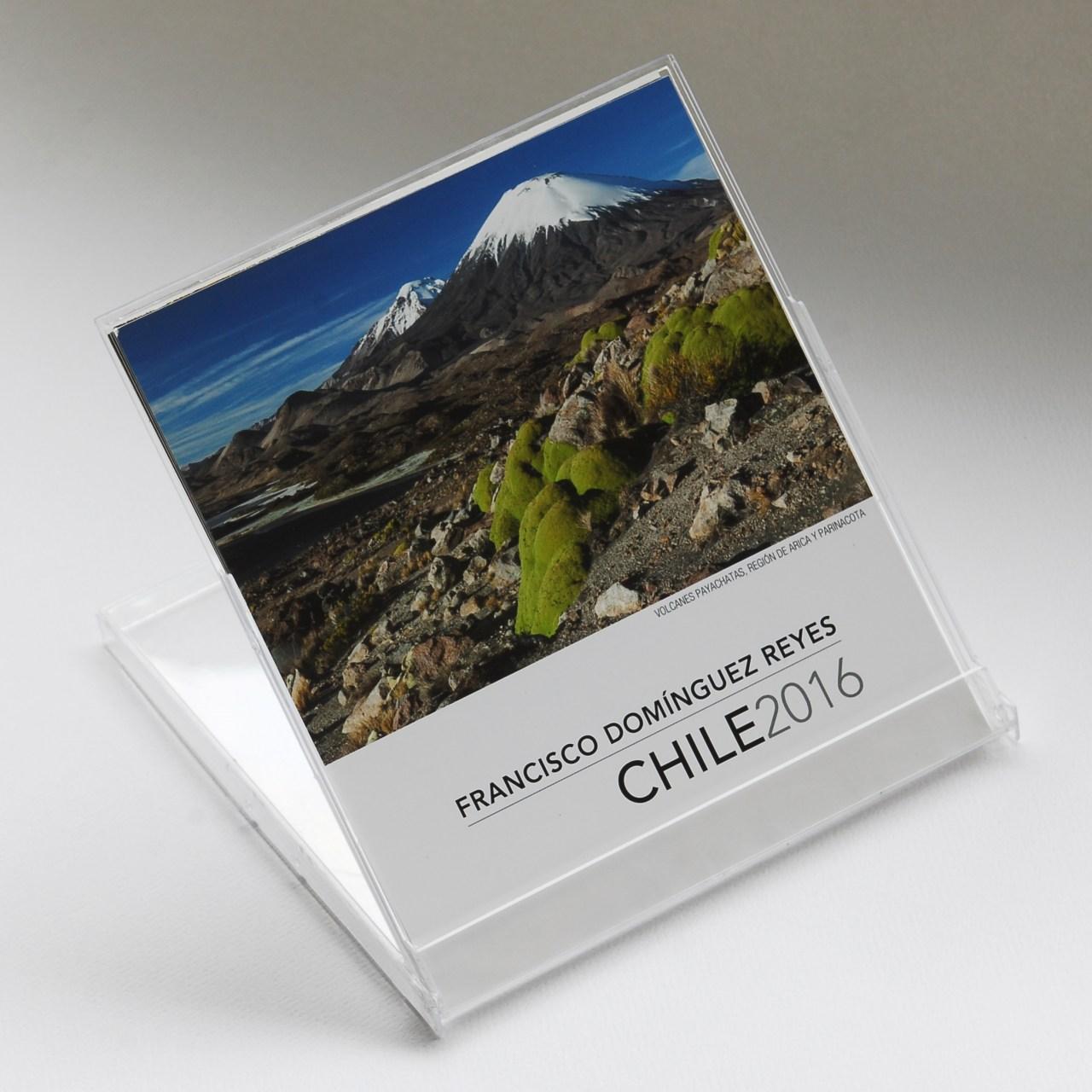 Calendario con fotografías de Chile