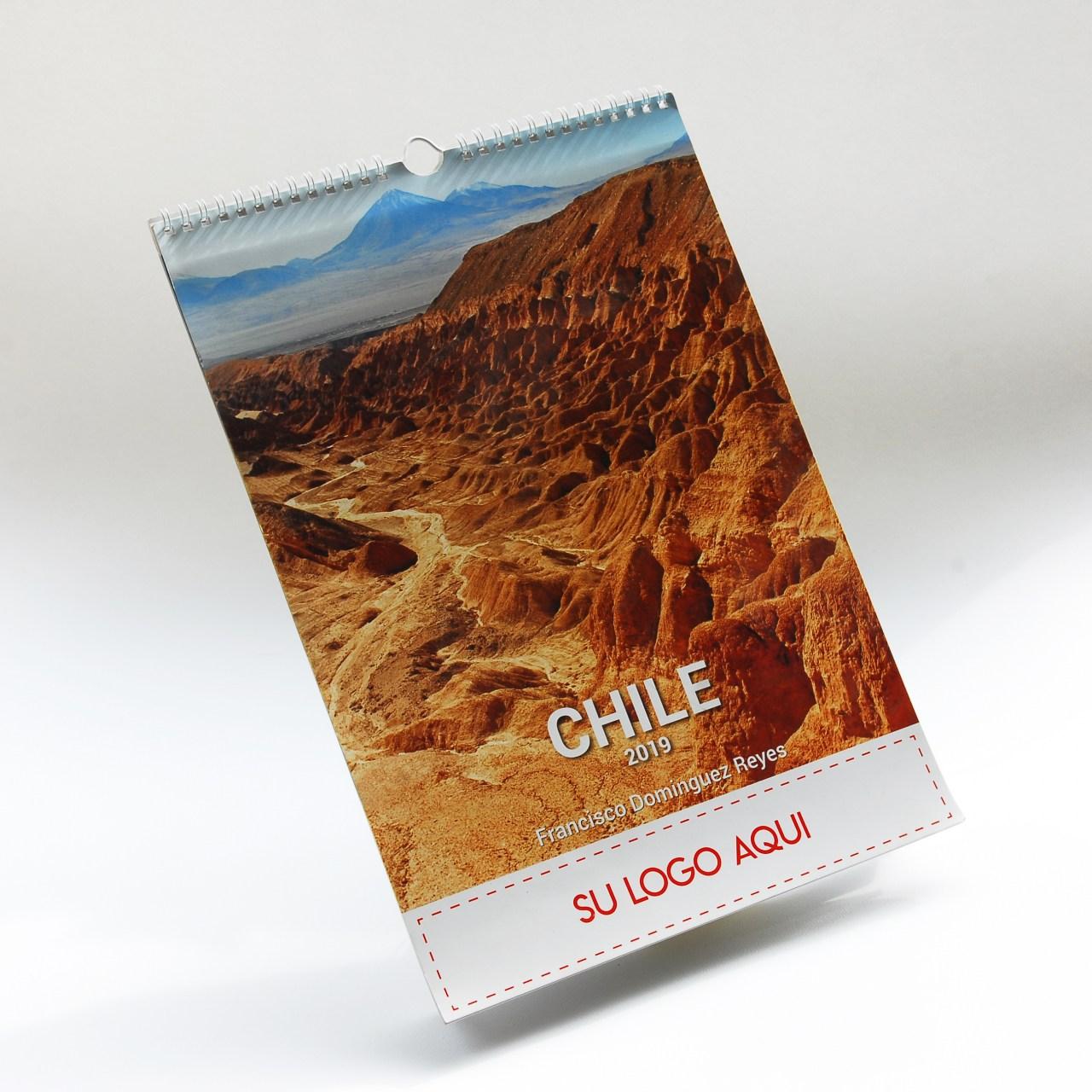Calendario con fotografías de ChileDiseño e Impresión Gráfica